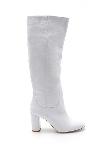 Derimod Hakiki Deri Çizme Beyaz